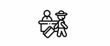 symbol turysty z walizką